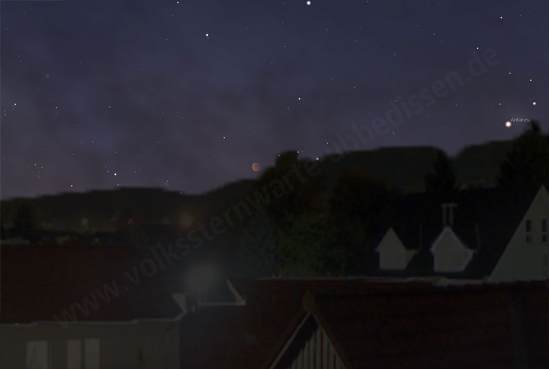 Mondfinsternis 2011 Simulation